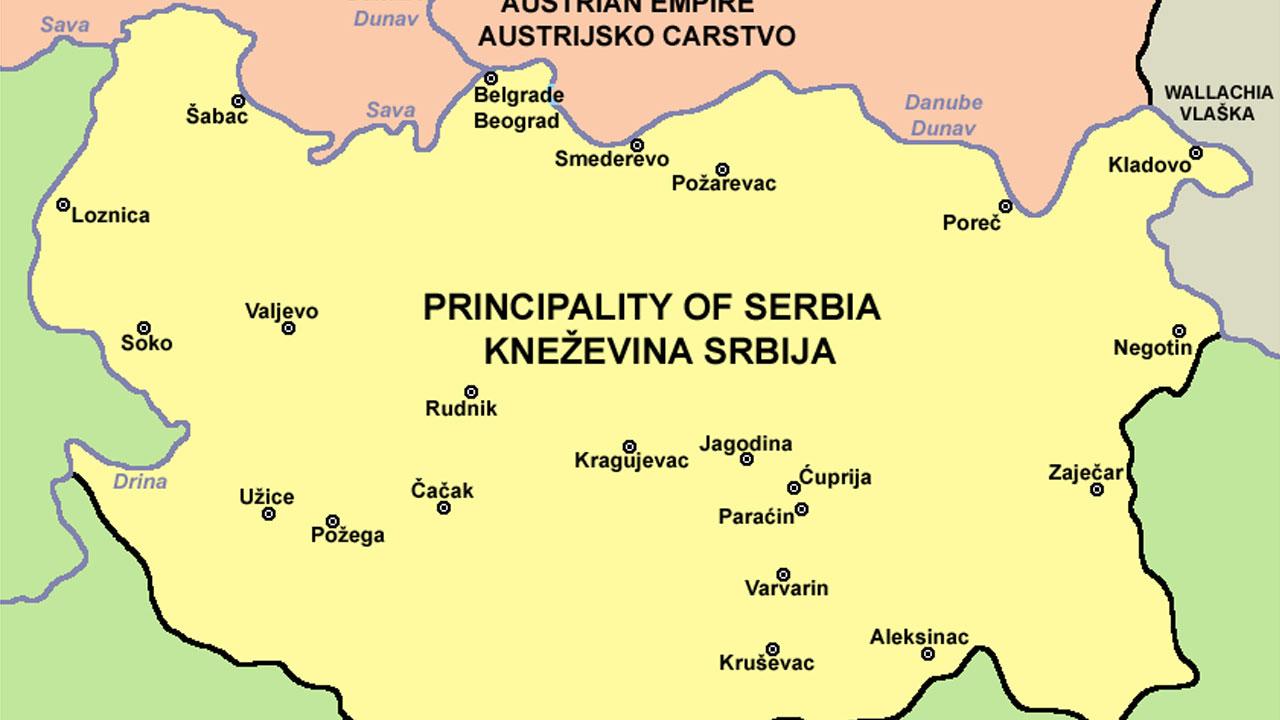 Фото: Карта Србије