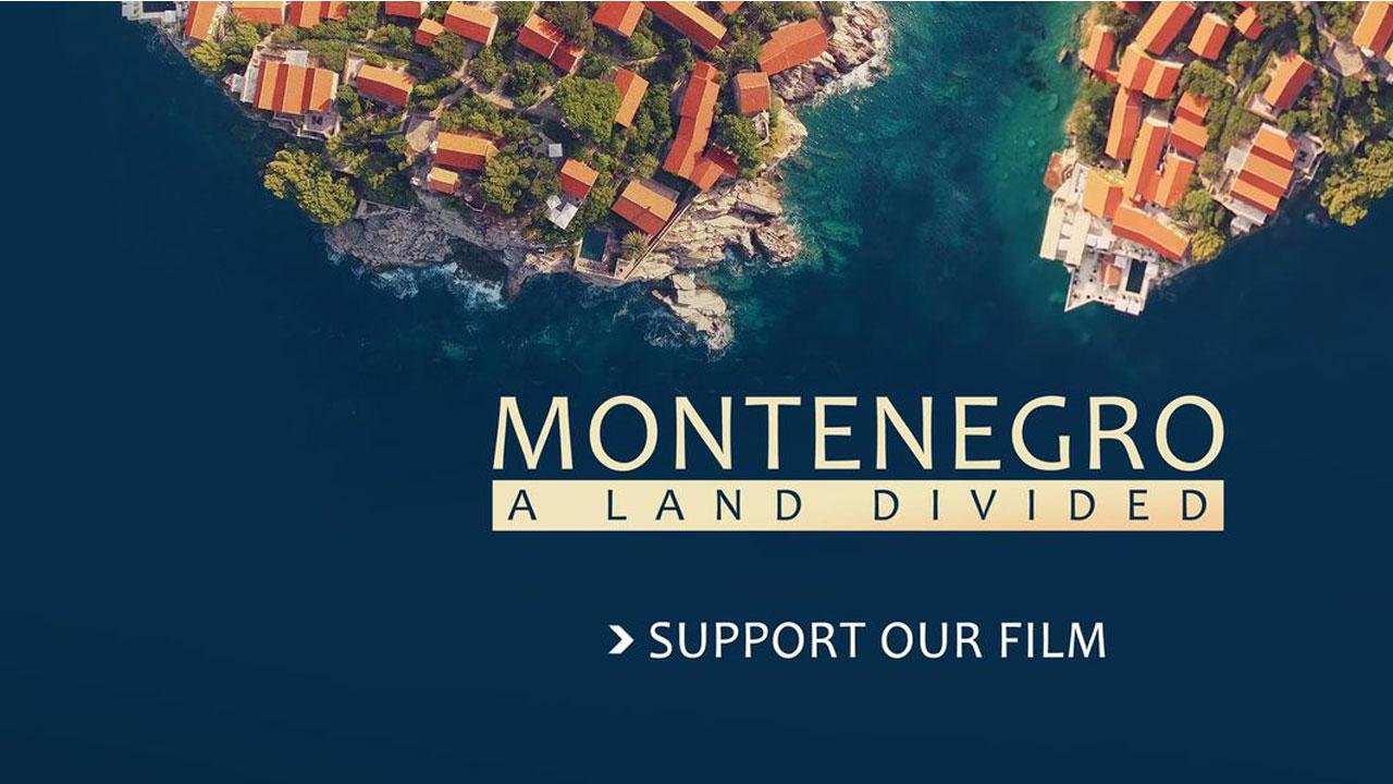 Плакат за филм Монтенегро подељена земља