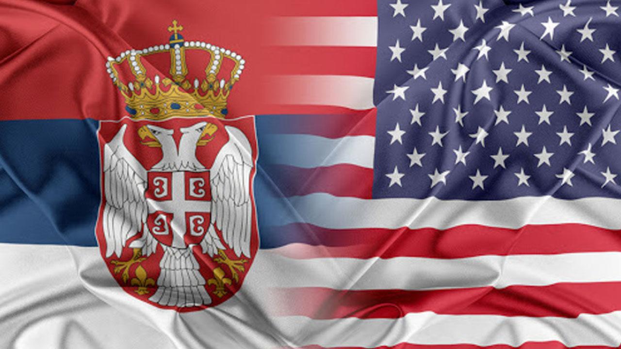 Srpsko - američka zastava