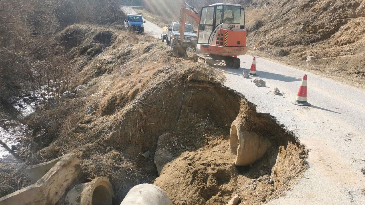 Изградња пута у Бушинцу