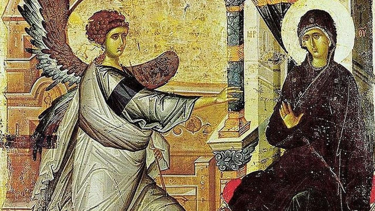 Благовести-фреска