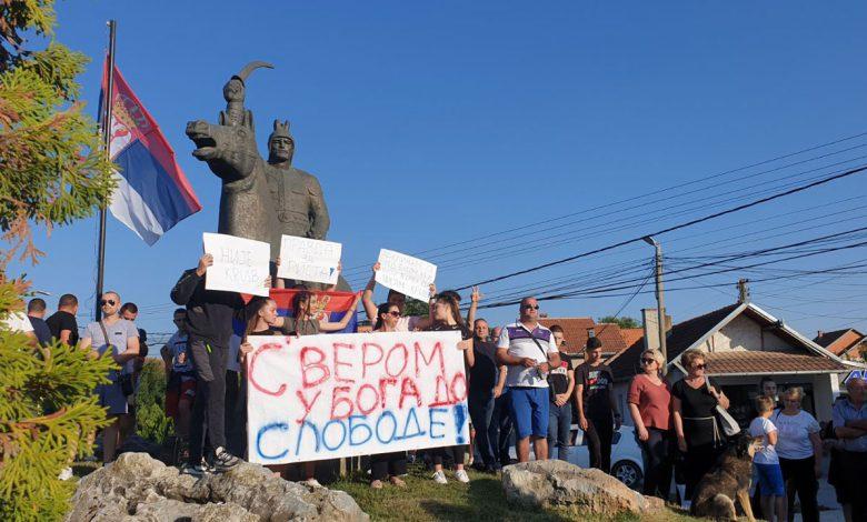 Протести Црногораца у Грачаници